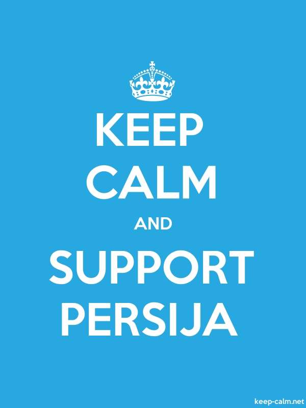 KEEP CALM AND SUPPORT PERSIJA - white/blue - Default (600x800)