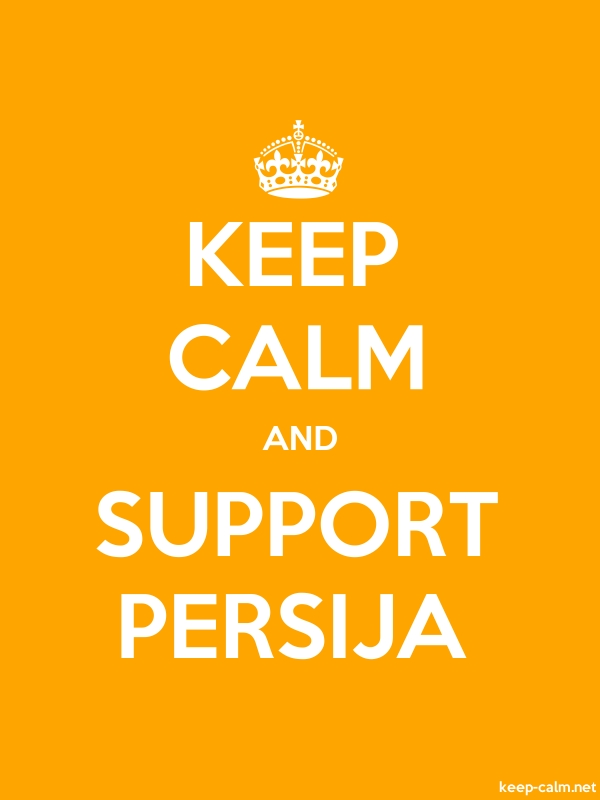 KEEP CALM AND SUPPORT PERSIJA - white/orange - Default (600x800)