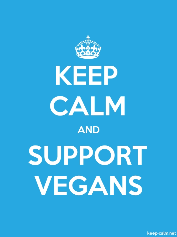 KEEP CALM AND SUPPORT VEGANS - white/blue - Default (600x800)