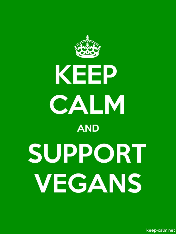 KEEP CALM AND SUPPORT VEGANS - white/green - Default (600x800)