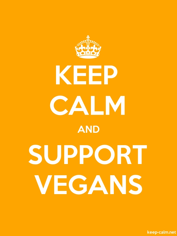 KEEP CALM AND SUPPORT VEGANS - white/orange - Default (600x800)