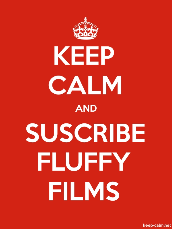 KEEP CALM AND SUSCRIBE FLUFFY FILMS - white/red - Default (600x800)