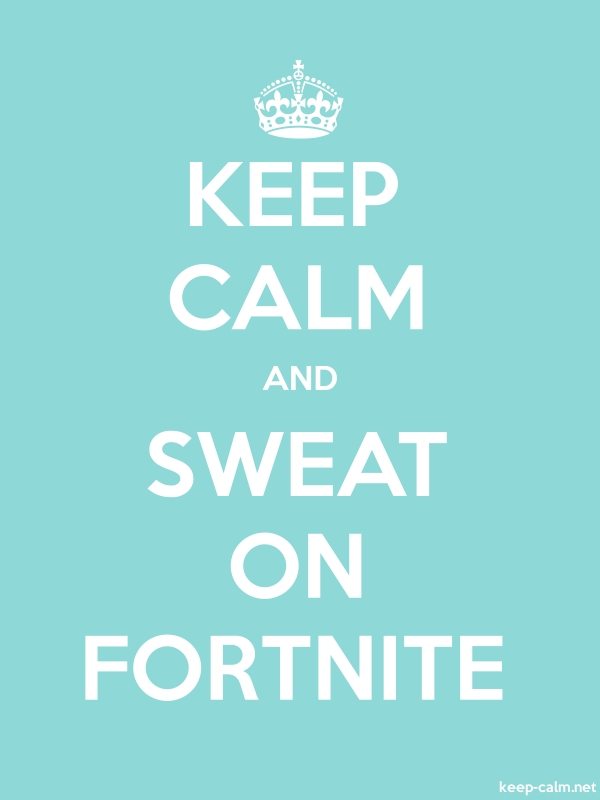 KEEP CALM AND SWEAT ON FORTNITE - white/lightblue - Default (600x800)