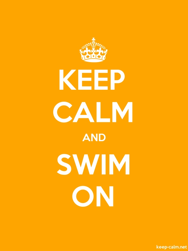 KEEP CALM AND SWIM ON - white/orange - Default (600x800)