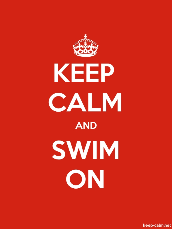 KEEP CALM AND SWIM ON - white/red - Default (600x800)
