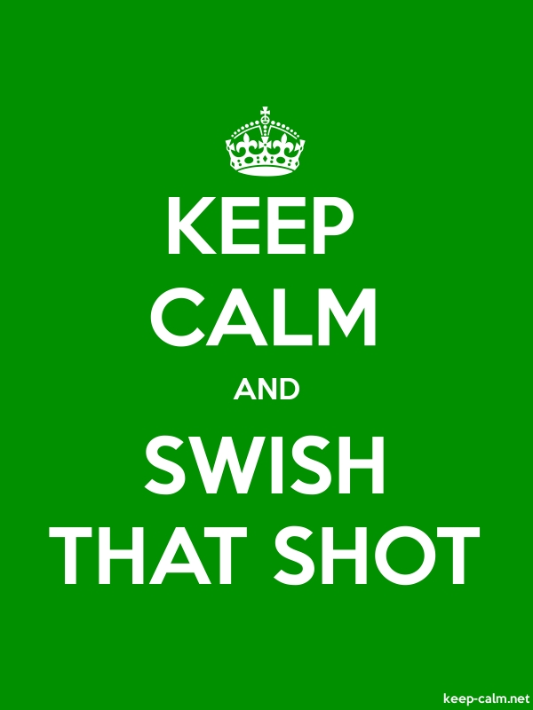 KEEP CALM AND SWISH THAT SHOT - white/green - Default (600x800)