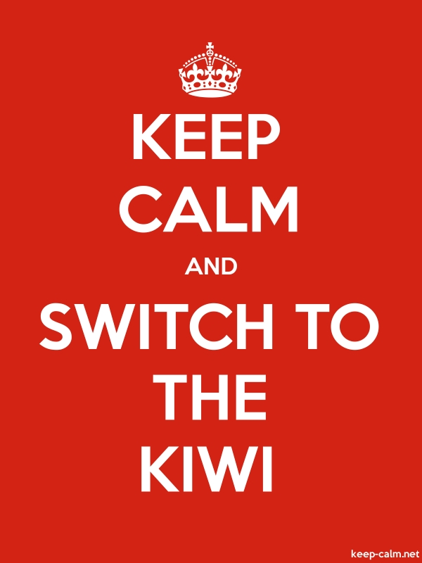 KEEP CALM AND SWITCH TO THE KIWI - white/red - Default (600x800)
