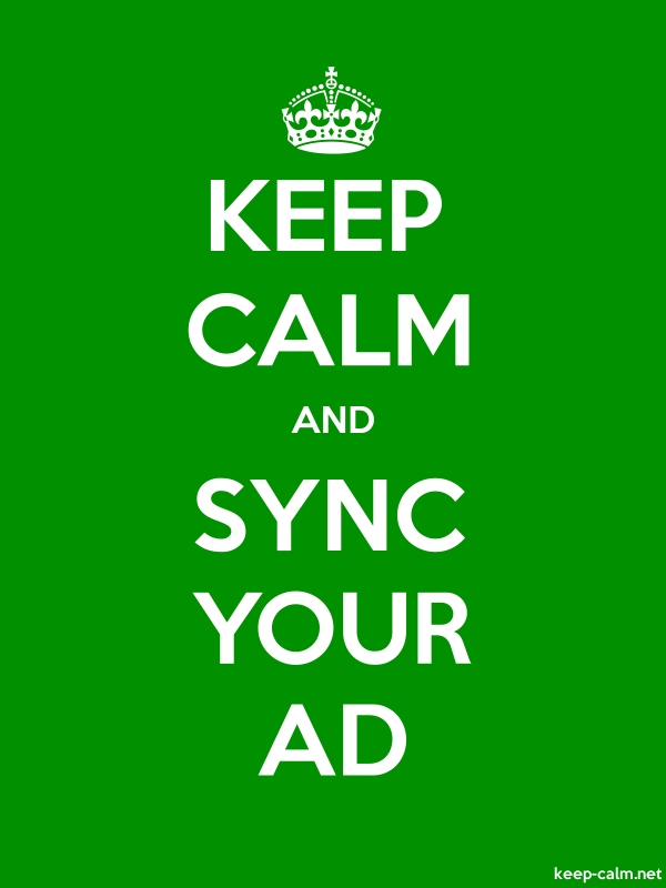 KEEP CALM AND SYNC YOUR AD - white/green - Default (600x800)