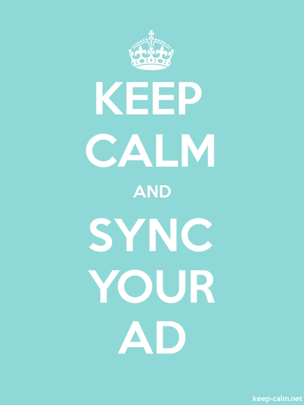 KEEP CALM AND SYNC YOUR AD - white/lightblue - Default (600x800)
