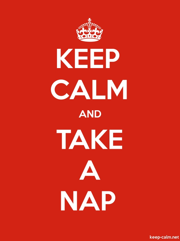 KEEP CALM AND TAKE A NAP - white/red - Default (600x800)