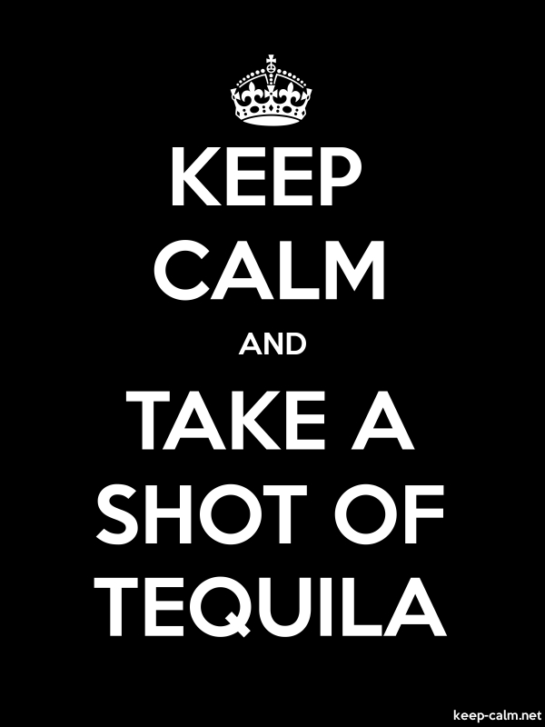 KEEP CALM AND TAKE A SHOT OF TEQUILA - white/black - Default (600x800)