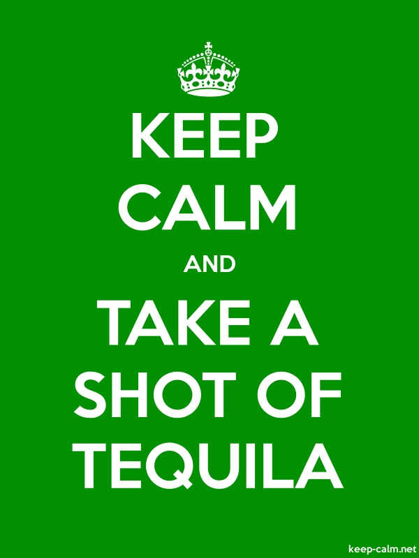 KEEP CALM AND TAKE A SHOT OF TEQUILA - white/green - Default (600x800)