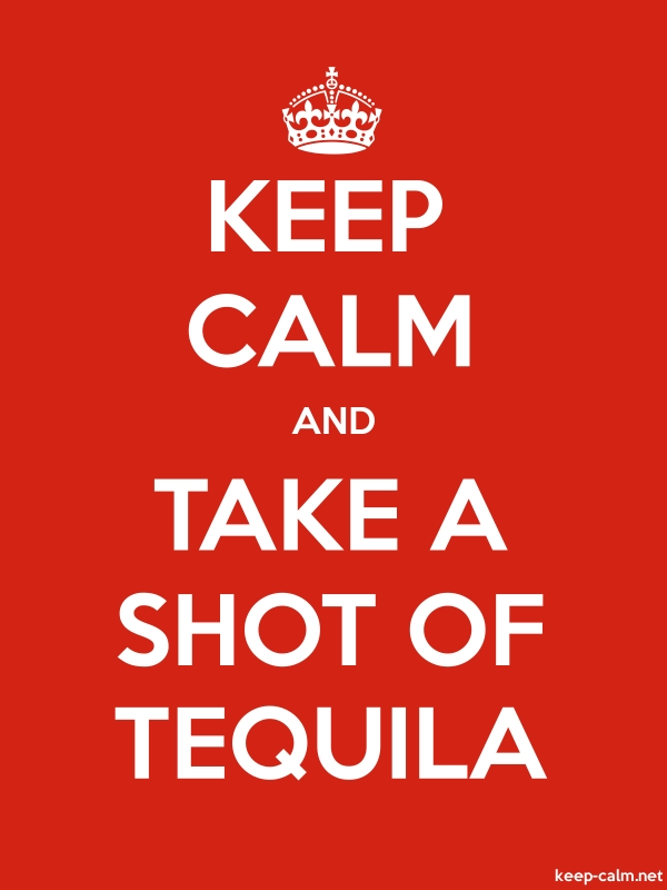 KEEP CALM AND TAKE A SHOT OF TEQUILA - white/red - Default (600x800)