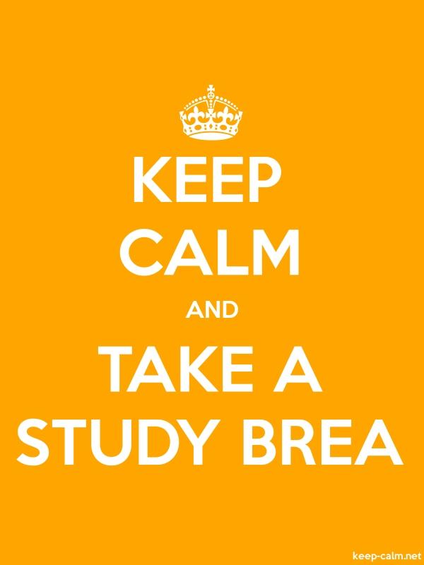 KEEP CALM AND TAKE A STUDY BREA - white/orange - Default (600x800)