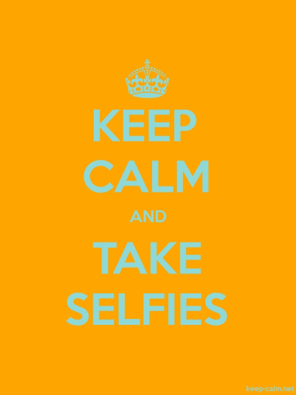 KEEP CALM AND TAKE SELFIES - lightblue/orange - Default (600x800)