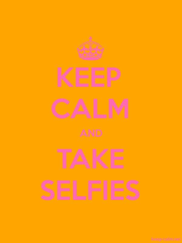 KEEP CALM AND TAKE SELFIES - pink/orange - Default (600x800)
