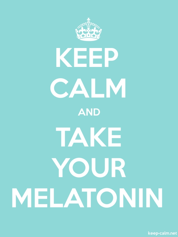 KEEP CALM AND TAKE YOUR MELATONIN - white/lightblue - Default (600x800)