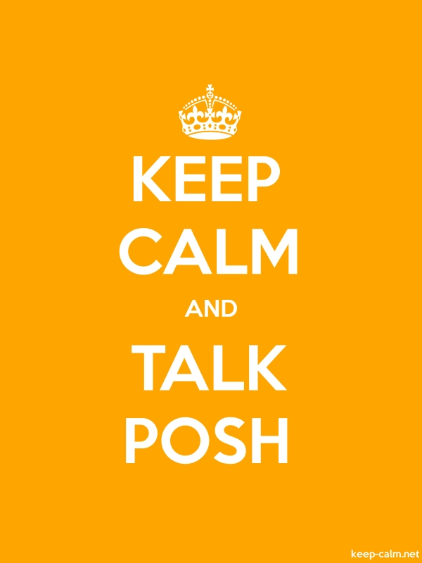 KEEP CALM AND TALK POSH - white/orange - Default (600x800)