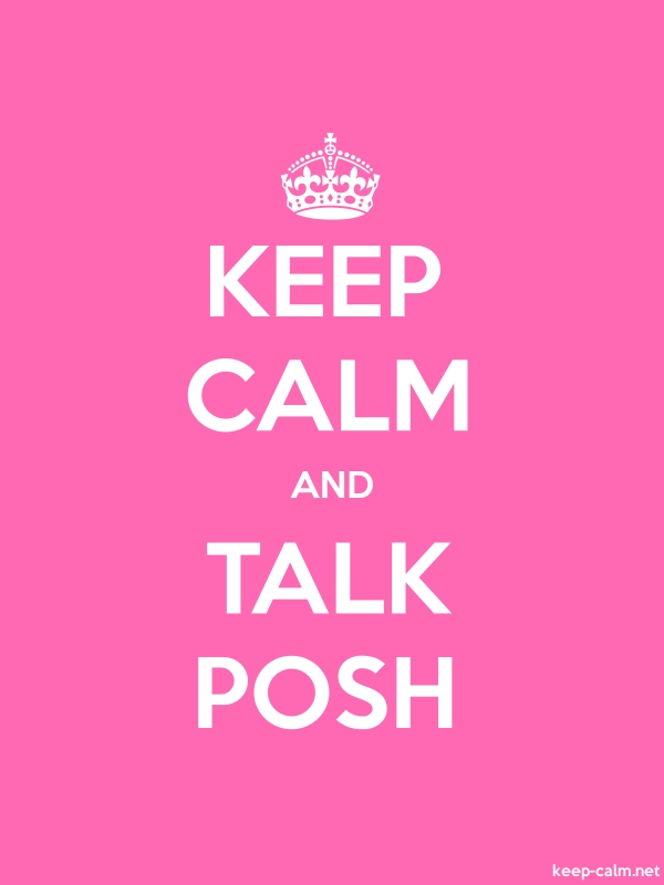 KEEP CALM AND TALK POSH - white/pink - Default (600x800)