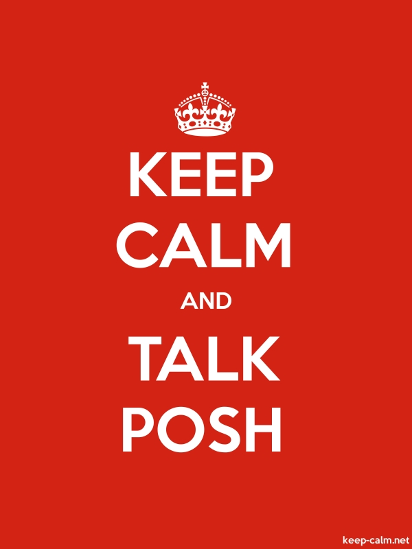 KEEP CALM AND TALK POSH - white/red - Default (600x800)
