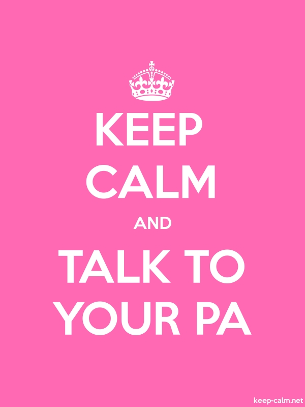 KEEP CALM AND TALK TO YOUR PA - white/pink - Default (600x800)
