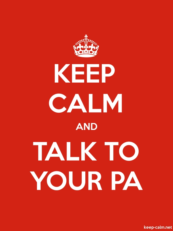 KEEP CALM AND TALK TO YOUR PA - white/red - Default (600x800)