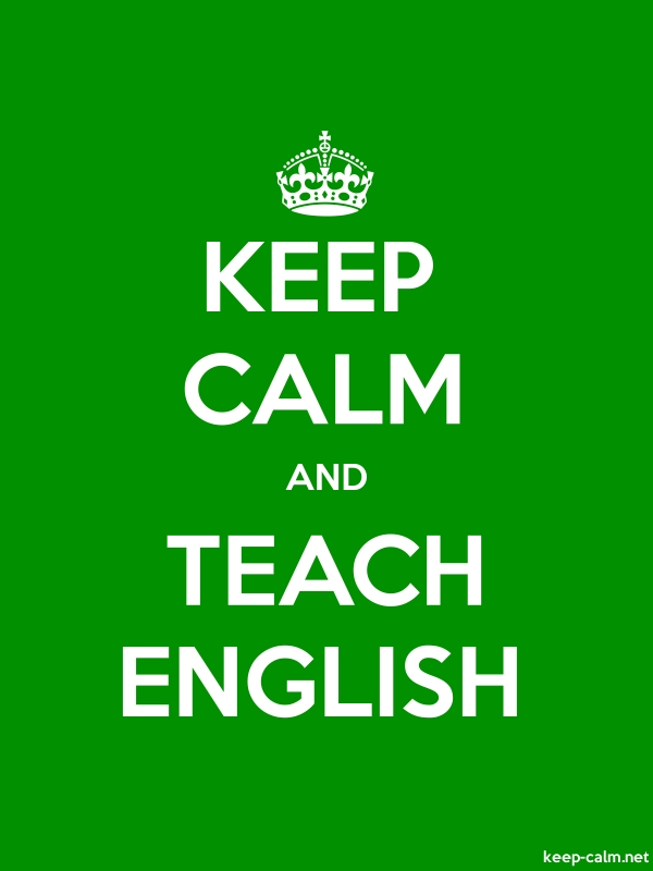 KEEP CALM AND TEACH ENGLISH - white/green - Default (600x800)