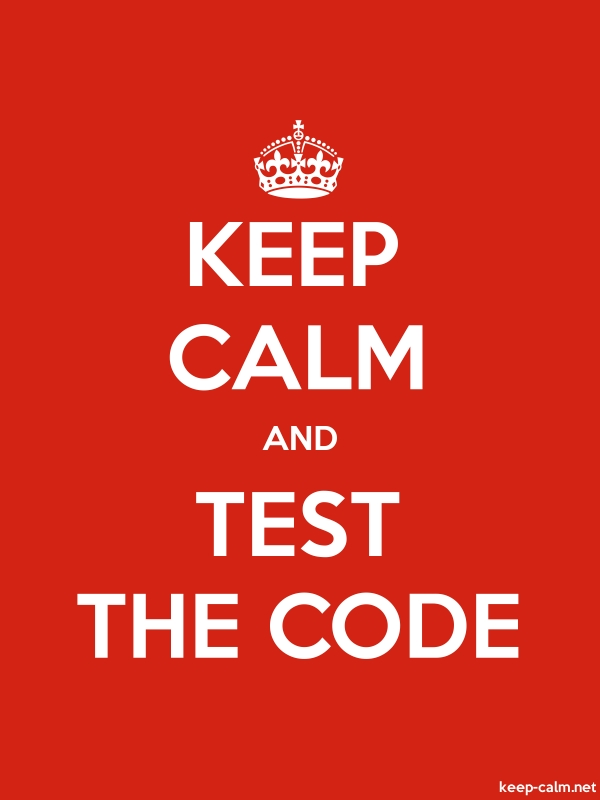 KEEP CALM AND TEST THE CODE - white/red - Default (600x800)