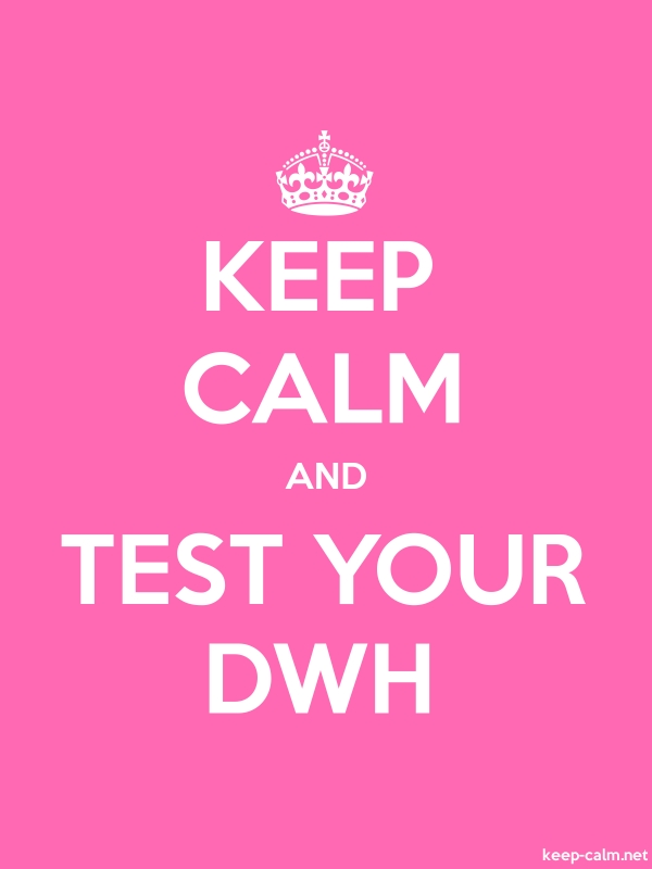 KEEP CALM AND TEST YOUR DWH - white/pink - Default (600x800)