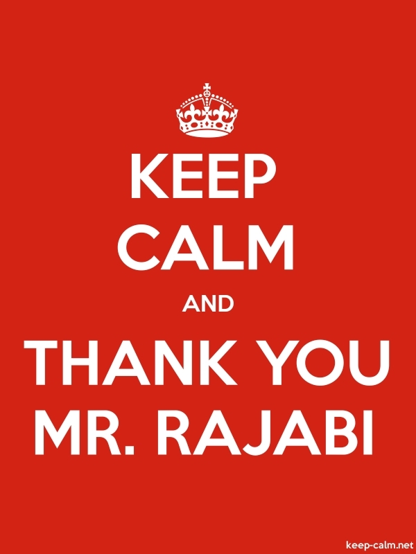 KEEP CALM AND THANK YOU MR. RAJABI - white/red - Default (600x800)