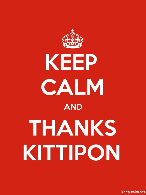 KEEP CALM AND THANKS KITTIPON - white/red - Default (600x800)