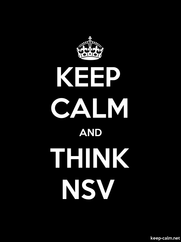 KEEP CALM AND THINK NSV - white/black - Default (600x800)
