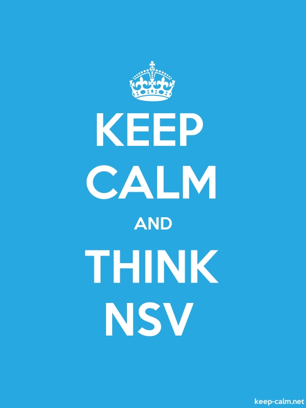 KEEP CALM AND THINK NSV - white/blue - Default (600x800)