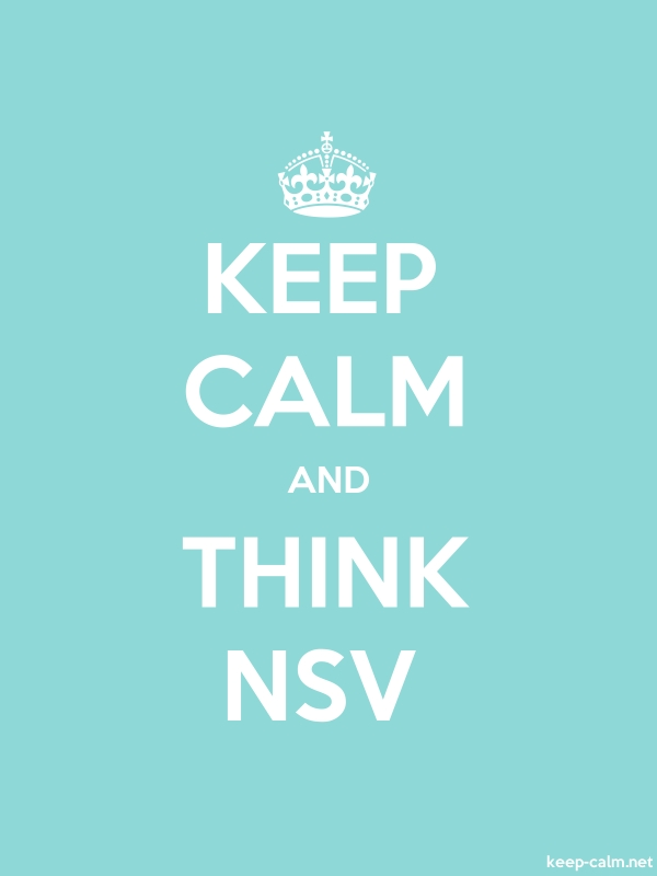 KEEP CALM AND THINK NSV - white/lightblue - Default (600x800)