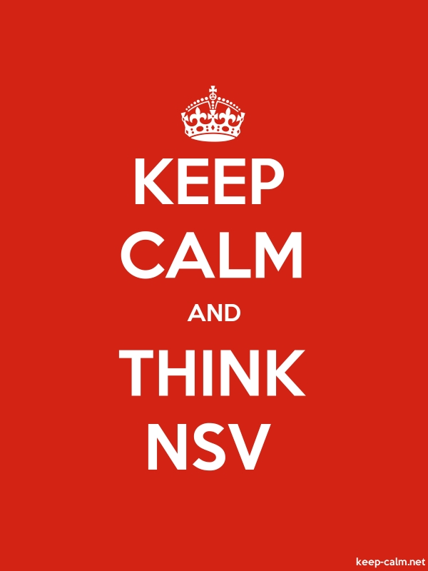 KEEP CALM AND THINK NSV - white/red - Default (600x800)