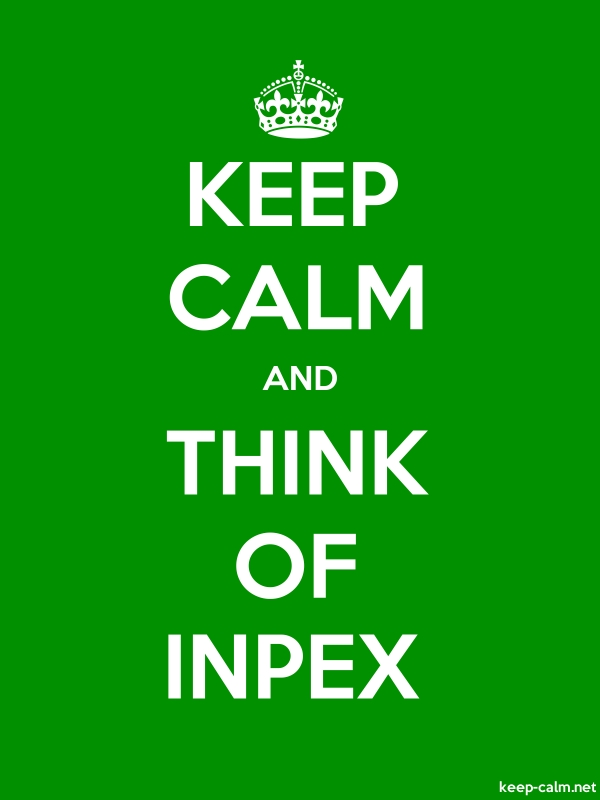 KEEP CALM AND THINK OF INPEX - white/green - Default (600x800)