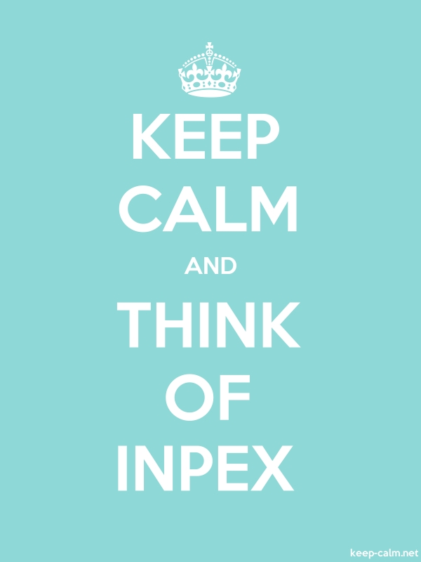 KEEP CALM AND THINK OF INPEX - white/lightblue - Default (600x800)