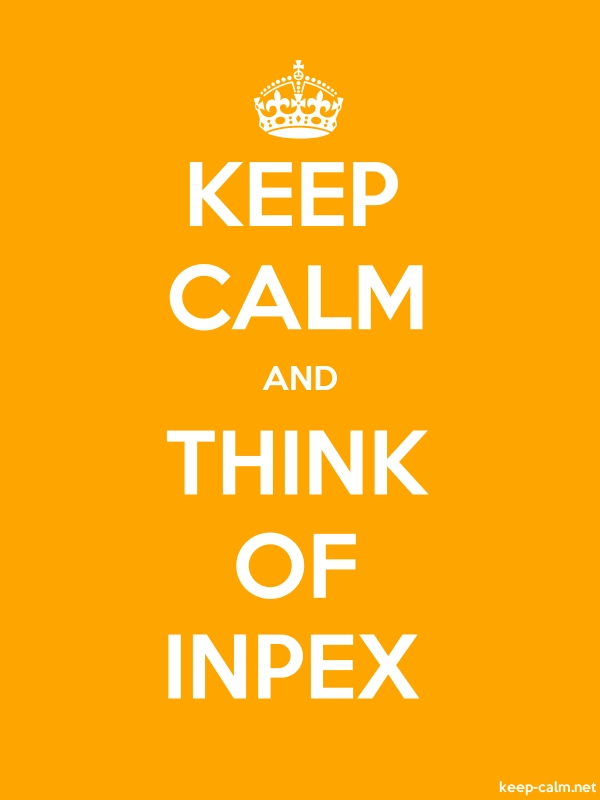 KEEP CALM AND THINK OF INPEX - white/orange - Default (600x800)