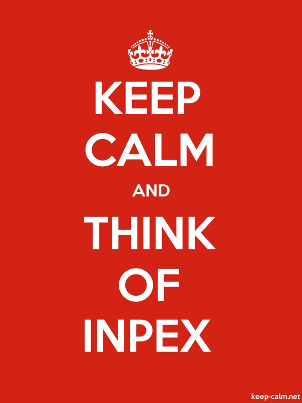 KEEP CALM AND THINK OF INPEX - white/red - Default (600x800)