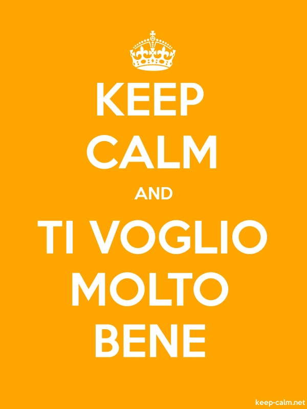 KEEP CALM AND TI VOGLIO MOLTO BENE - white/orange - Default (600x800)