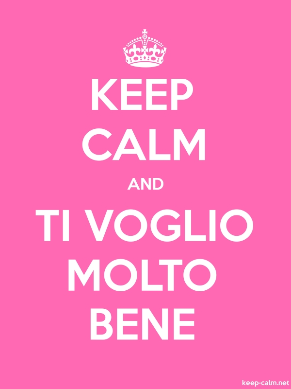 KEEP CALM AND TI VOGLIO MOLTO BENE - white/pink - Default (600x800)