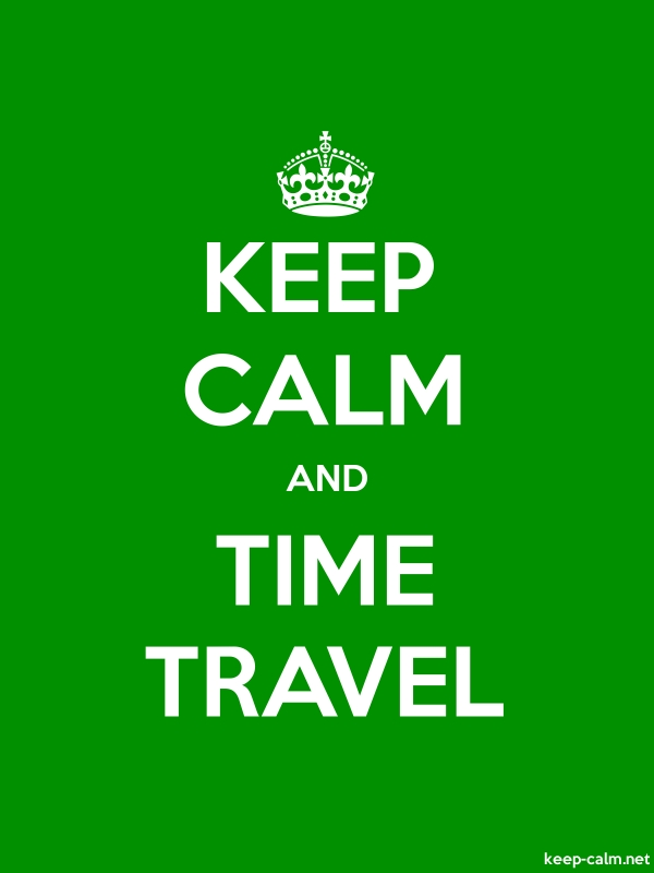 KEEP CALM AND TIME TRAVEL - white/green - Default (600x800)