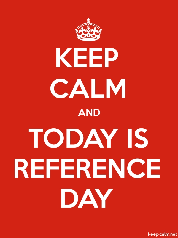 KEEP CALM AND TODAY IS REFERENCE DAY - white/red - Default (600x800)