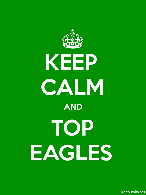 KEEP CALM AND TOP EAGLES - white/green - Default (600x800)