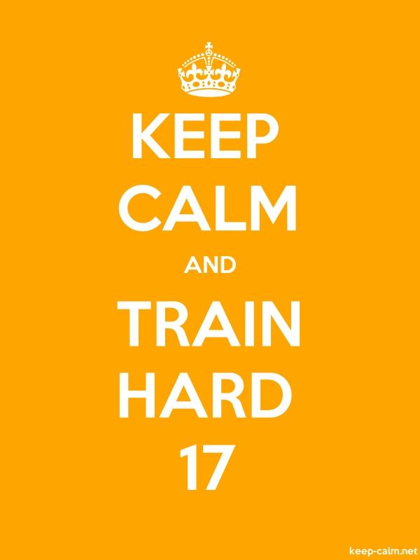 KEEP CALM AND TRAIN HARD 17 - white/orange - Default (600x800)
