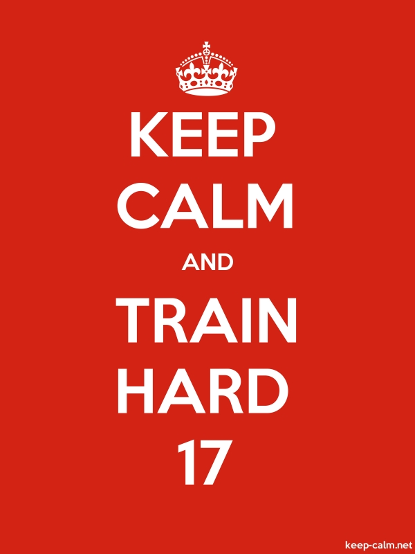 KEEP CALM AND TRAIN HARD 17 - white/red - Default (600x800)