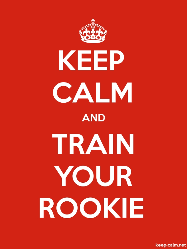 KEEP CALM AND TRAIN YOUR ROOKIE - white/red - Default (600x800)
