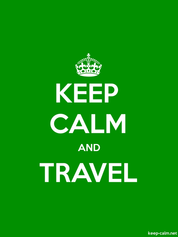 KEEP CALM AND TRAVEL - white/green - Default (600x800)