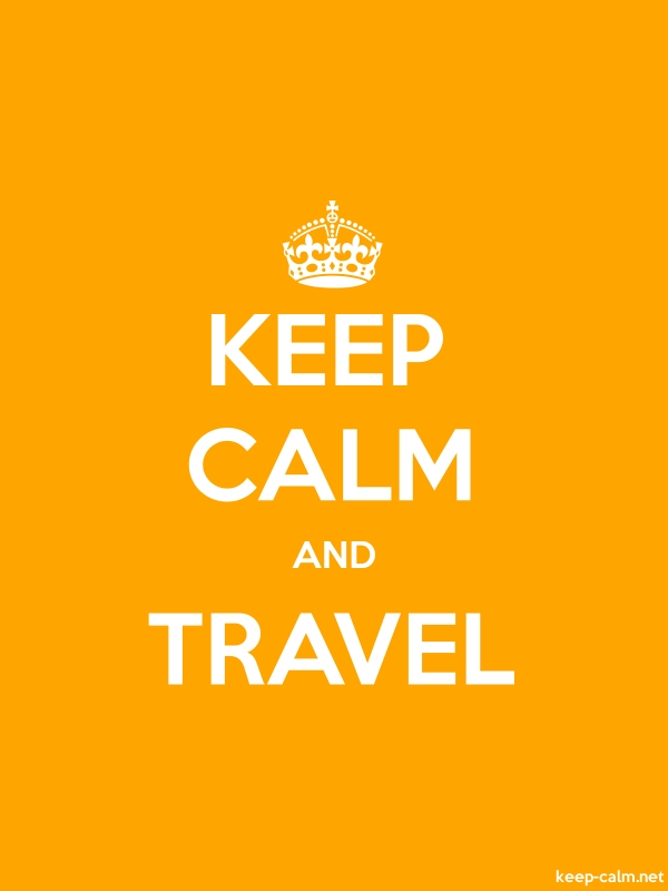 KEEP CALM AND TRAVEL - white/orange - Default (600x800)