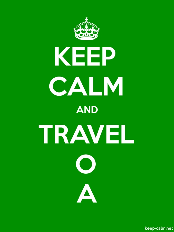 KEEP CALM AND TRAVEL O A - white/green - Default (600x800)
